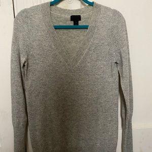 JCREW cashmere v-neck sweater